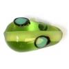 Glass Lamp Bead 15x9mm Pear Shape Green